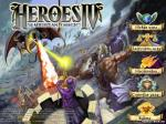 "Меню ""Heroes of Might and Magic IV"""